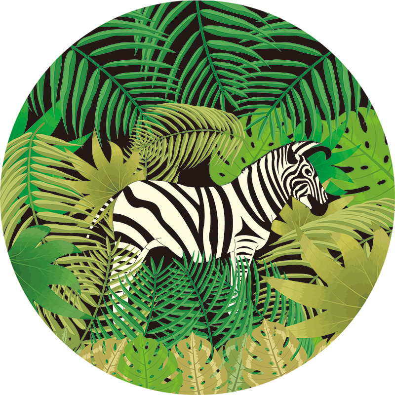 Hot sale zebra Round beach towel large animal tiger dog cow dragon elephant women ladies summer vacation size 1500*1500mm