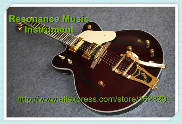 100% Real Pictures Grets G6122-1962 Chet Atkins Country Gentleman Electric Guitar Brown Color Guitar China In Stock