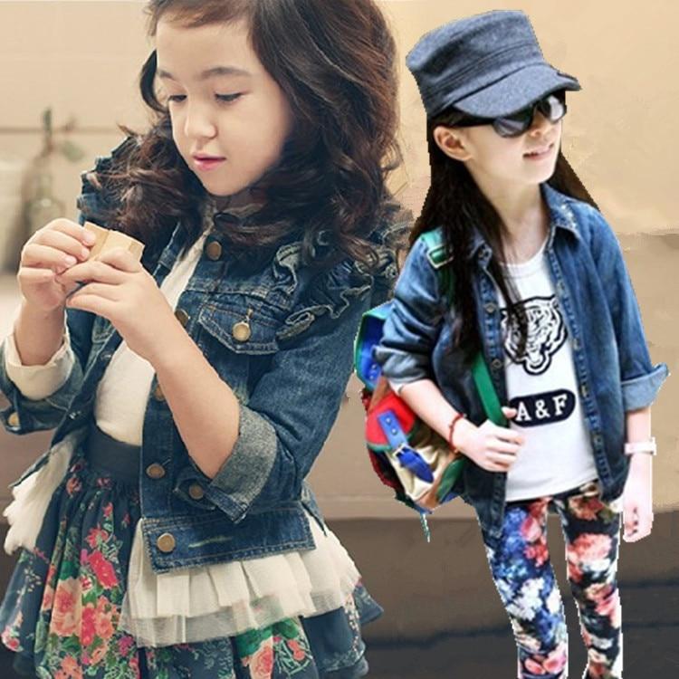 2017 neue Arrivel Mädchen Jeansjacke Kinder Jeansjacke Mädchen Jean - Kinderkleidung - Foto 4