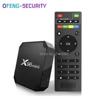 X96 Mini Android 7.1 TV Box Amlogic S905w Quad-core Smart Streaming Media Player 4K HD Set  X96mini 2G 16Gwith I8 Keyboard
