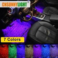 CNSUNNYLIGHT автомобильный внутренний ножной Свет USB светодиодный свет атмосферное Звездное DJ Смешанный Красочный музыкальный звуковой с голосо...