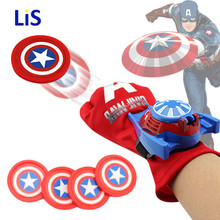 DC Justice League Superhero Spiderman Cosplay Glove with Flashing and Sounding,Kids Toy Launcher