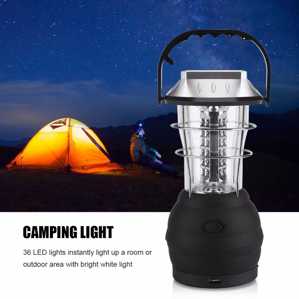 LED Solar Camping light lantern Hand Operated Emergency Light 36 LED Light Outdoor Emergency Camping Lamp