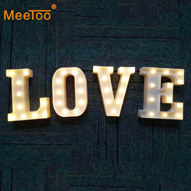 a z alphabet led letter light 3d decoration symbol indoor wall hanging night light wedding christmas party