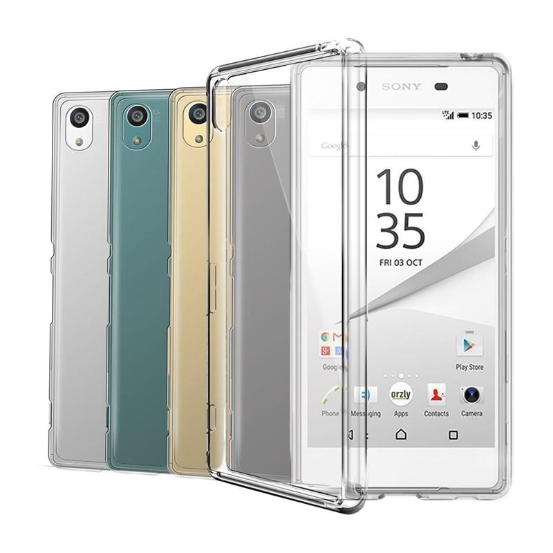 Прозрачный силиконовый чехол из ТПУ для Sony Xperia Z Z1 Z2 Z3 Z4 Z5 compact Mini M2 M4 M5 T3 E3 E5 XA XA1 XZ Премиум чехол для телефона