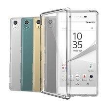 Capa de silicone transparente tpu para sony xperia z z1 z2 z3 z4 z5 compacto mini m2 m4 m5 t3 e5 xa1 xz xa premium capa de telefone