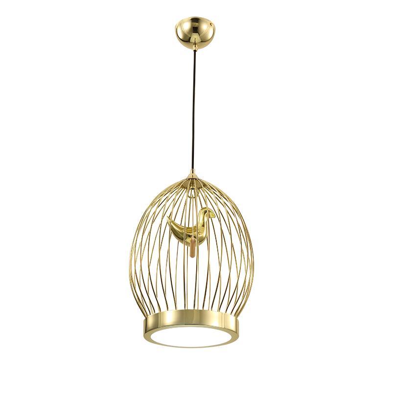 Creatieve LED Vogels kooi hanglampen vintage lampen hars vogel voor ...