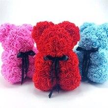 25 см высокий цветок медведь искусственный цветок пластиковый медведь много цветов на выбор девушки подарок на день рождения подарочная коробка