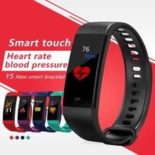 Smart Bracelet Y5 sleep tracker Fitness heart rate Blood Group Pressure clock Color Screen for ios/Android
