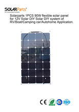 Solarparts 1 UNIDS 90 W flexibles panel solar 12 V barco RV sistema kits de módulos de células del panel Solar al aire libre coche/RV/barco cargador de batería