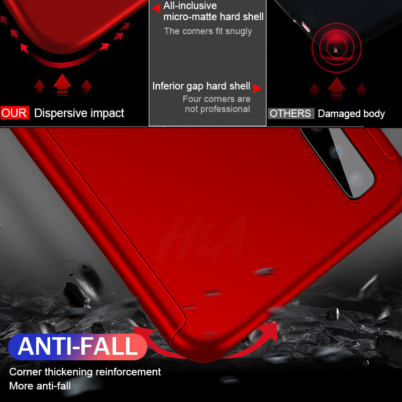 Image 2 - Luxury 360 Full Cover Case For Samsung Galaxy A8 A6 Plus Protective Case For Galaxy J4 J6 J8 2018 A7 A5 A3 2017 2016 Phone Case-in Half-wrapped Cases from Cellphones & Telecommunications