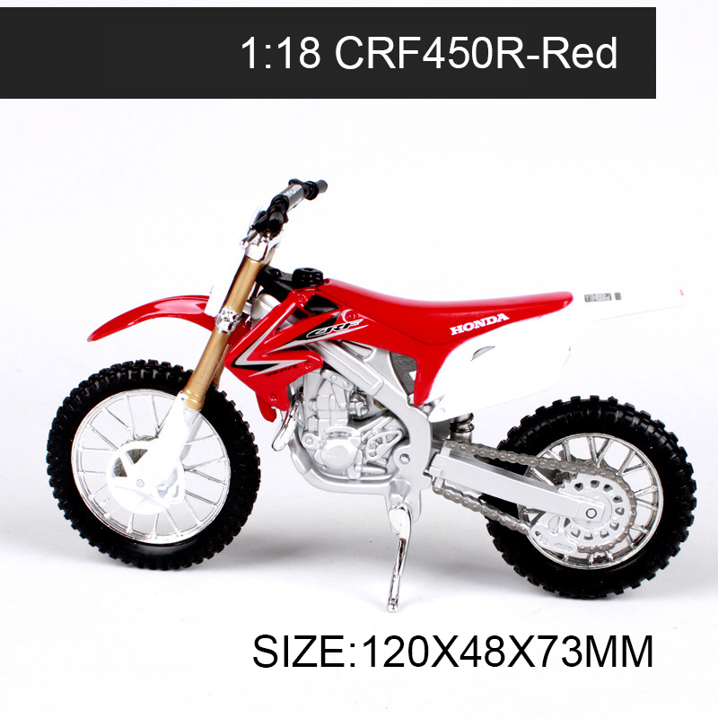 Maisto 1:18 Motorcycle Models CRF450R CR250R XR400R Off-road Race Model Bike Base Diecast Moto Children Toy For Gift Collection