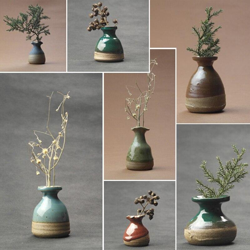 ceramic small vase flowers inserted home decoration flower vase room ornaments flower Pot desk accessories crafts 1 pcs 5X6X3cm