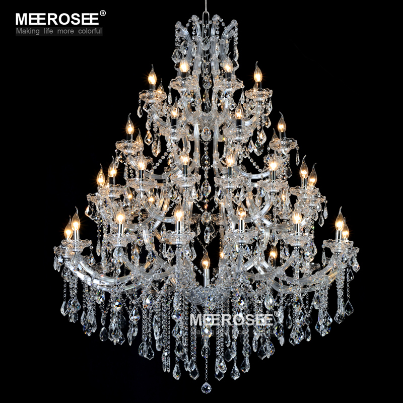 Huge Crystal Chandelier Light Fixture for Hotel Project Gorgeous Crystal Lamp Hanging Lustres Light for Restaurant Lighting