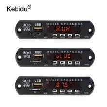Kebidu Bluetooth inalámbrico 5V 12V MP3 placa decodificadora WMA FM Módulo de Audio USB TF música adaptador de altavoz con controlador remoto