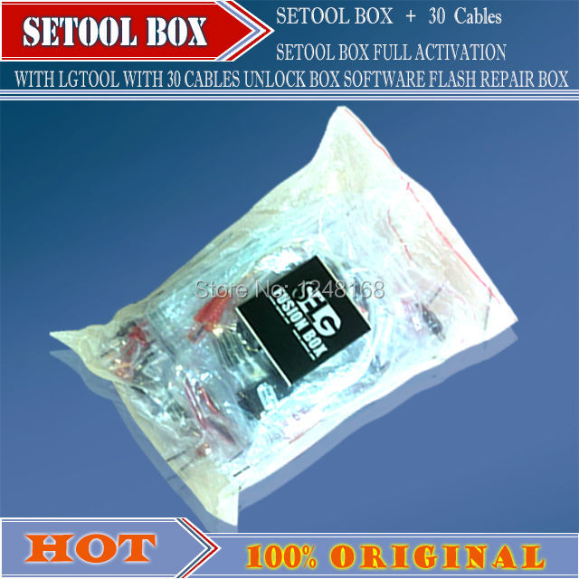 ORIGINAL NEW SETOOL BOX FULL ACTIVATION WITH LGTOOL WITH 30 CABLES UNLOCK  BOX SOFTWARE FLASH REPAIR BOX(package with 30 cables)-in Telecom Parts from