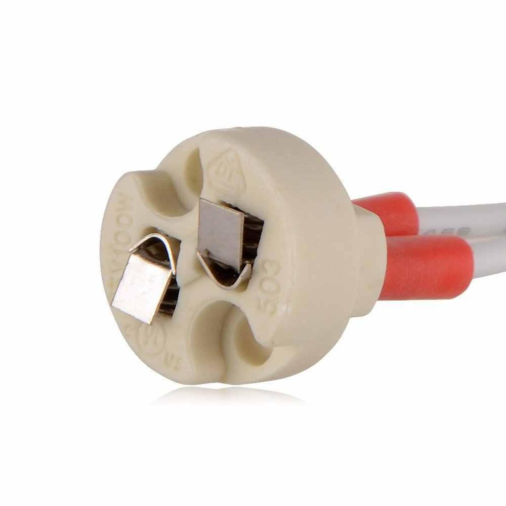 MR16/G4/GU5.3 держатель лампы Керамика гнездо База с высокое качество кремния кабель для светодио дный и галогенные лампы Бесплатная доставка