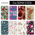 For Sony Lt25i Case Painted Case For Sony Xperia V Lt25i Flip Cover High Quality Capa Fundas Full Protection Cell Phone Case