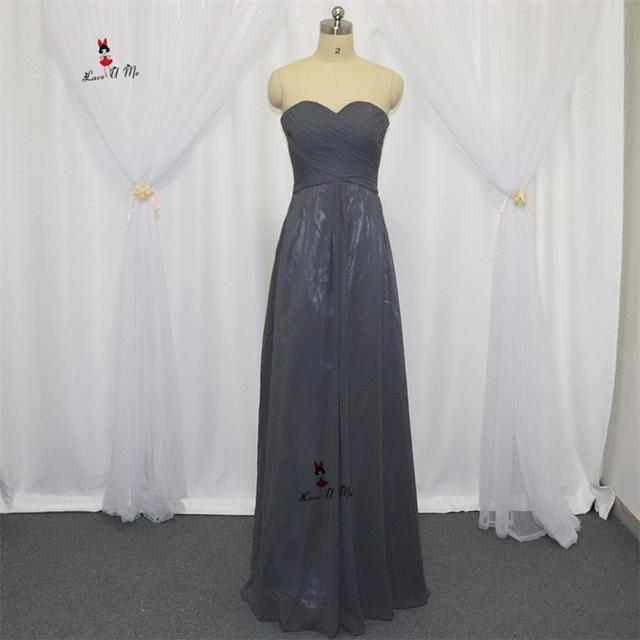 e92d5f8665c Vestido Madrinha Casamento Longo 2017 Designer Long Wedding Guest Dresses  Cheap Grey Bridesmaid Dress Chiffon Party Prom Gowns