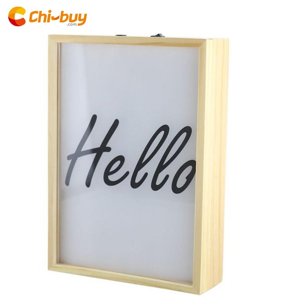 CHIBUY LED Wood Cinema LightBox,