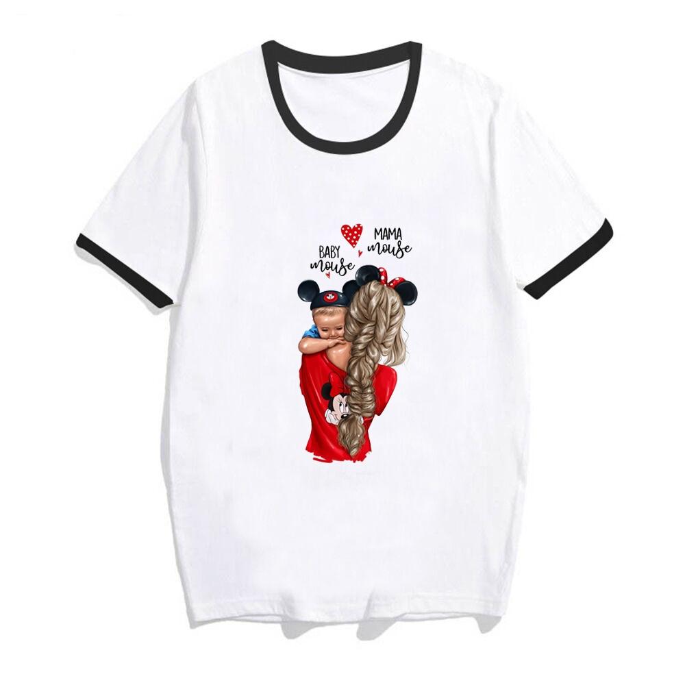 f2257b33 GROTOPK Mama Baby Mickey T-shirts for Women Mom and Son Print Tee Shirt  Femme Cotton Vogue T Shirt Streetwear Harajuku Tops