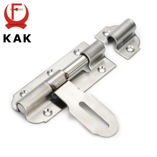 KAK-5111 304 Porte En Acier Inoxydable Boulon de Sécurité Garde Levier D'action Fermeture de porte 6 pouce Coulissante Serrure Pour Meubles Hardware