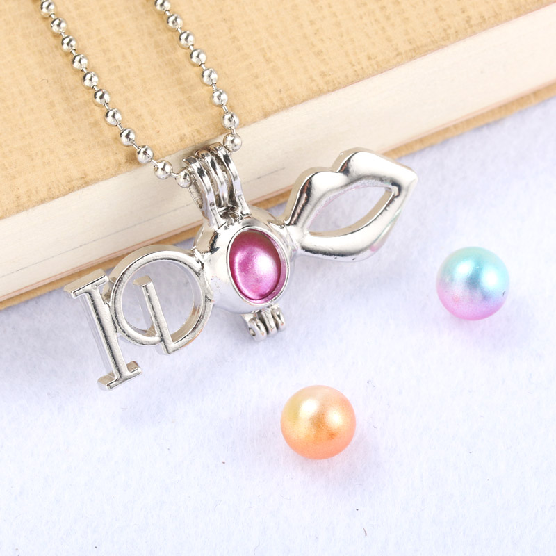 Silver Lips Pearl Cage Jewelry Making Supplies Beads Cage ...