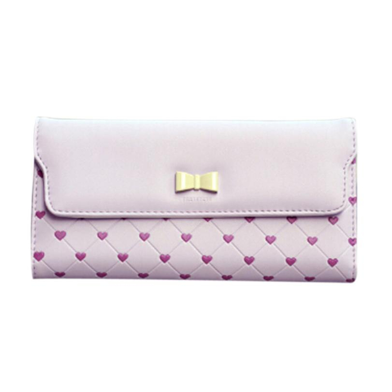 Women's Bags Smart Carteira Wallet Male Fashion Bow Love Long Clamshell Purse Wallet Girl Wallets Card Package A0517#30 Luggage & Bags