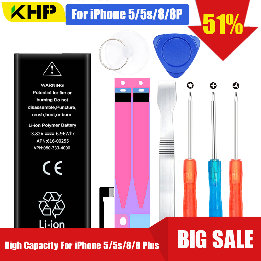 Phone-Battery Replacement KHP Orignial for 8/8-plus/5/5s