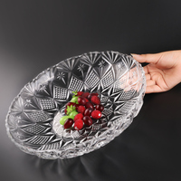 Large European household living room coffee table snacks melon seeds dish glass fruit plate snack plate ZP01241611