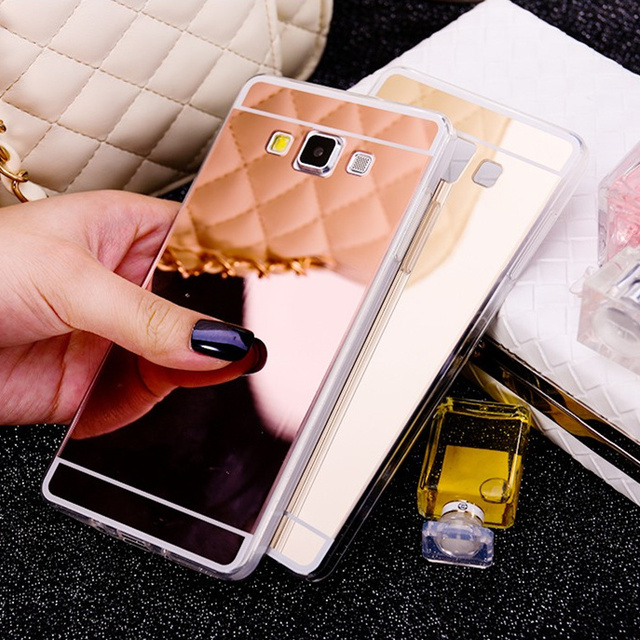 cheaper c9639 e42e0 US $1.55 6% OFF|Luxury Rose Gold Mirror Case Soft Back Cover For Samsung  Galaxy Grand Prime G530H G531H VE G531 DUOS Shell Bags Full Cover Case-in  ...