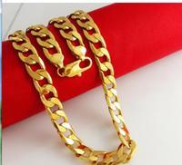 Groothandel fabriek prijs mannen geschenken 24 k gp koper grof 10mm lange 60 cm noble frau wilde fijne gouden ketting mannen
