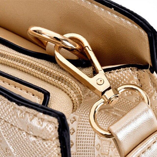 Famous Brand Women Bag Top-Handle Bags 2017 Fashion Women Shoulder Messenger Bags Female 6 Set Composite PU Leather Handbag