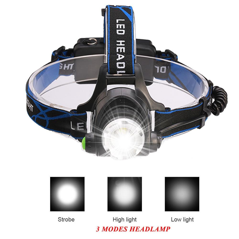 10000LM V6 L2 LED Reflektor Reflektor Zoomable Latarka Light 3 Mode - Przenośne oświetlenie - Zdjęcie 5