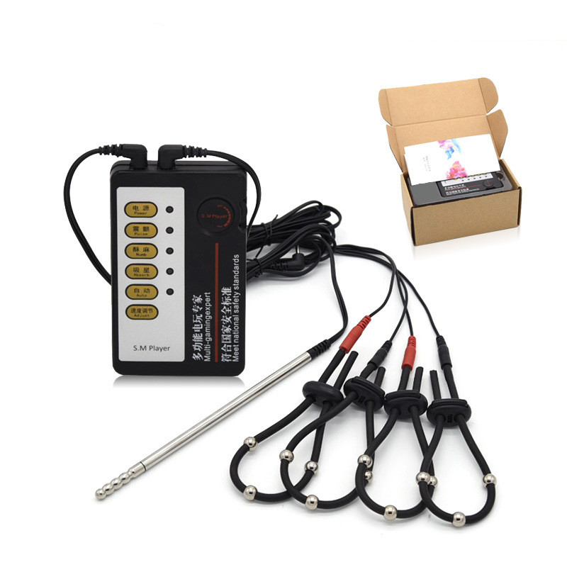 Sex Shop Electric Shock Kit,Penis Rings Fixed Cock Rings prostate Massage Pad Strap Urethral Sounds electro Sex toys for menSex Shop Electric Shock Kit,Penis Rings Fixed Cock Rings prostate Massage Pad Strap Urethral Sounds electro Sex toys for men