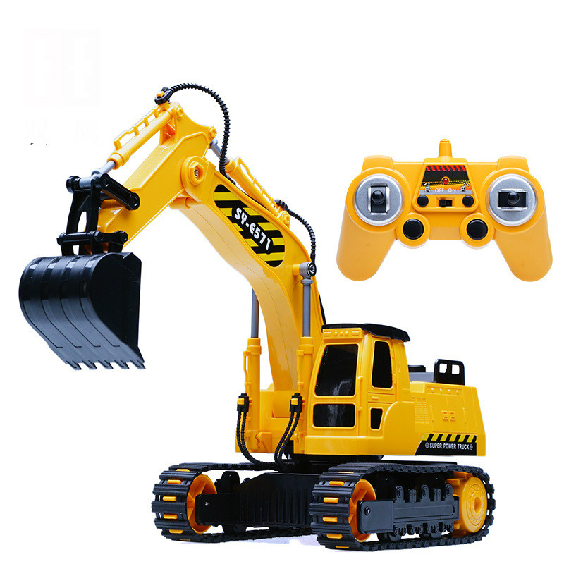 2.4G Radio Control RC Excavating machine Remote Control Construction Vehicle For Kids Gift Toys quality good engineer series motor driven remote control tuba excavating machinery e511 toys goods in stock without original box