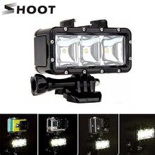 تبادل لاطلاق النار 30 متر تحت الماء إضاءة مقاومة للماء مصباح الغوص ملء ضوء ل GoPro بطل 8 7 5 الأسود Xiaoyi 4K Sjcam Eken الفيديو فلاش الإضاءة