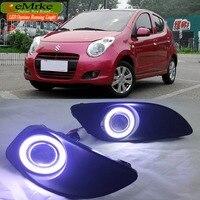 eeMrke LED Angel Eye DRL For Maruti Suzuki A Star Alto Fog Light Daytime Running Lights Tagfahrlicht Halogen Bulbs H11 55W