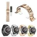 Correas de reloj de metal reloj de pulsera correa de acero inoxidable para garmin fenix 3/hr correa de reemplazo con 2 destornilladores