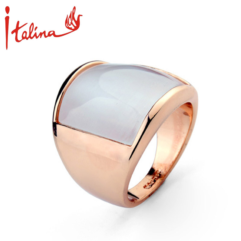Created opal mood rings for women rose gold plated semi for Precious stone wedding rings
