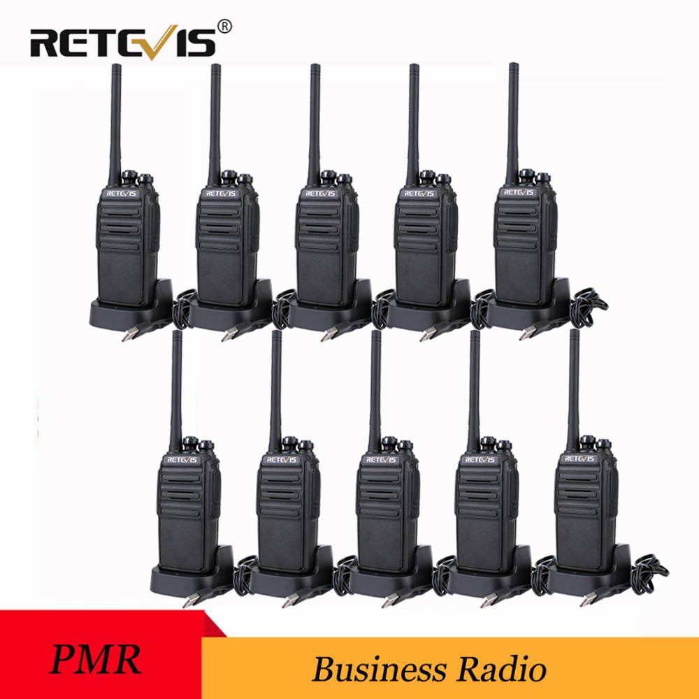10 pièces RETEVIS RT24 PMR Talkie-walkie PMR446 Radio 0.5 W UHF 446 MHz sans Licence 2 Voies Émetteur-Récepteur Radio VOX pour Hôtel/Restaurant