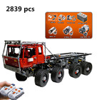 LEPIN 23012 2839pcs Technic Series Car Model Toy Building Blocks Bricks For Boys Kids Equipped With 5 Motors And 1 Charging Box