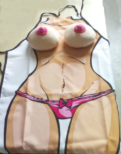 Hot Aprons Novelty Sexy Funny Kitchen Naked Women Cooking Apron Night Party Fancy Dress For Gift design lovers gift