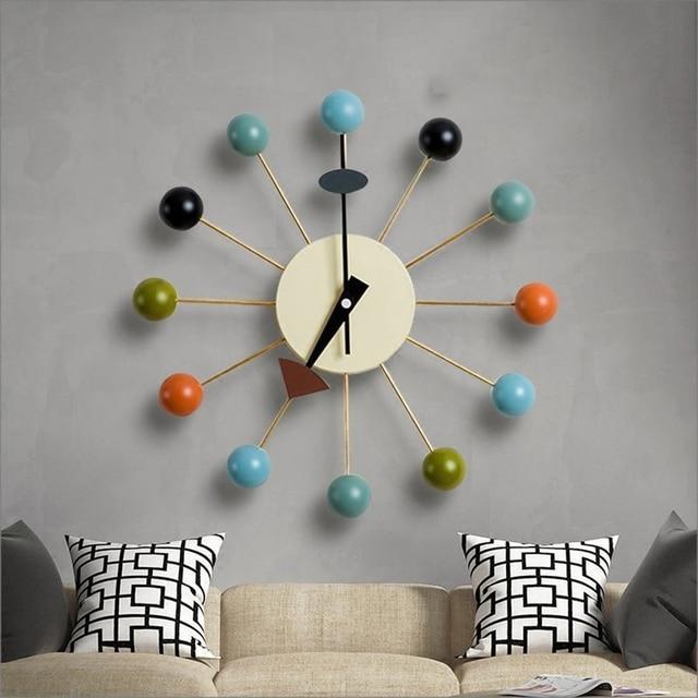 Designer Simple Metal Wall Clock Art Craft Silent Wall Watch