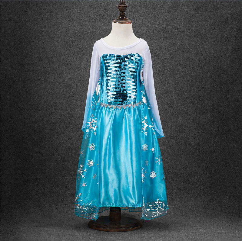 HTB1LG1vnwDD8KJjy0Fdq6AjvXXav Queen Elsa Dresses Elsa Elza Costumes Princess Anna Dress for Girls Party Vestidos Fantasia Kids Girls Clothing Elsa Set