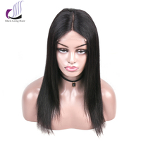 SHENLONG HAIR Brazilian Human Hair Lace Front Wig For Black Women Non Remy Straight Hair Lace Front Wig 4*4 Lace Closure