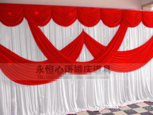 Ice Silk Satin Wedding Background Curtain Party Backdrop 3m*6m(10ft*20ft) Props Curtain Wedding Decorations Free Shipping