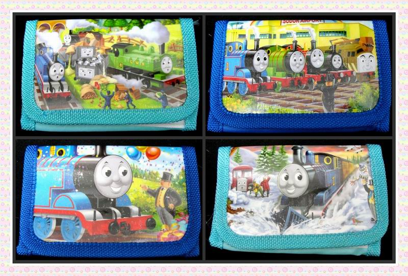 12Pcs Thomas Coin Purse Cute Kids Cartoon Wallet Bag Pouch Children Purse Small Wallet Party Birthday Gift