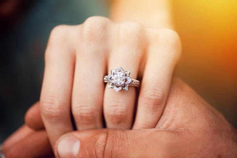 Choucong элегантная форма в виде цветка обещающее кольцо из стерлингового серебра 925 пробы AAAAA cz обручальное кольцо для женщин Свадебные украшения