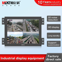Security video surveillance display 15 Metal casing industrial monitor with HDMI BNC /VGA input